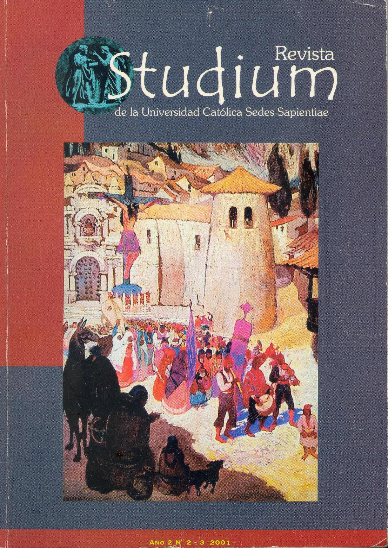 Ver Vol. 2 Núm. 2-3 (2001): Studium Veritatis