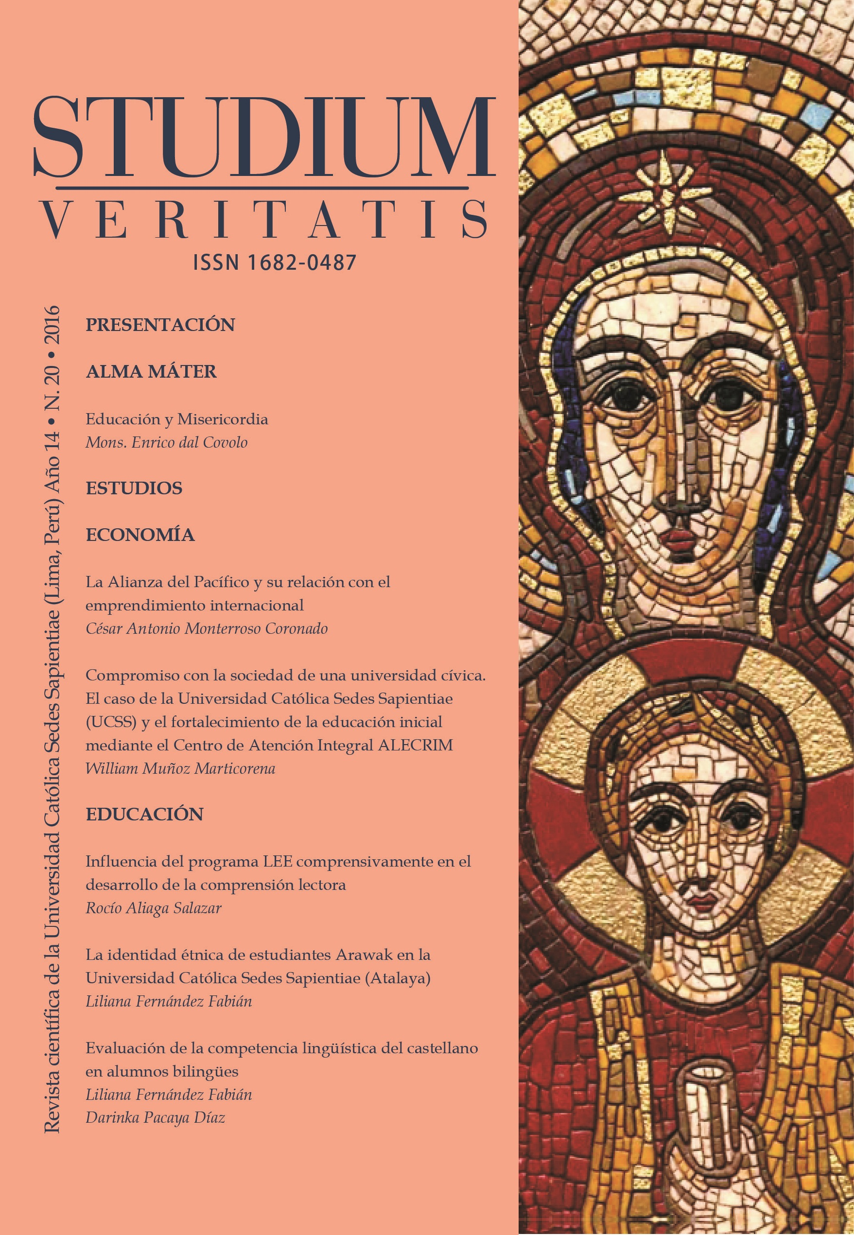 Ver Vol. 14 Núm. 20 (2016): Studium Veritatis